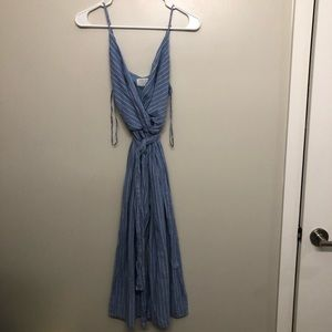 Sienna sky pin stripes romper blue white small